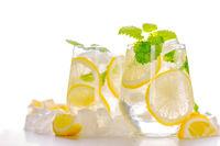 Lemonade drink in a glass