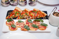 Catering food table set