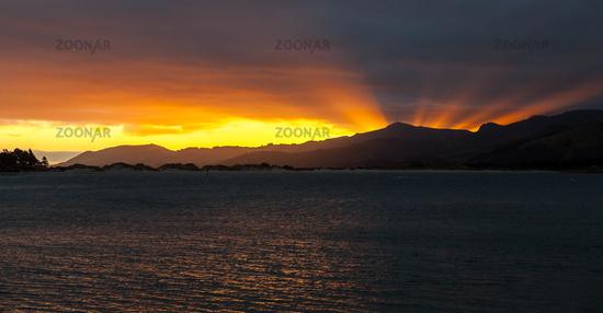 Sunset over Pilot Bay