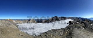 Plaine-Morte-Gletscher vor dem Wildstrubel Massiv