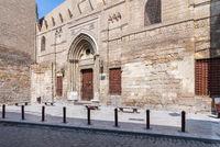 Mamluk era School and Mausoleum of Sultan Qalawun, Moez Street, at Covid-19 lockdown, Cairo, Egypt