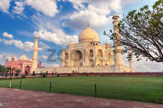 Famous Taj Mahal in India, beautiful view