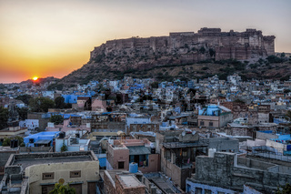 mehrangarh fort sunset