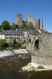 Lahn und Burg in Runkel, Hessen