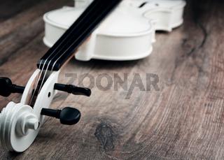 Beautiful white violin