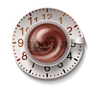 coffee mug with clock