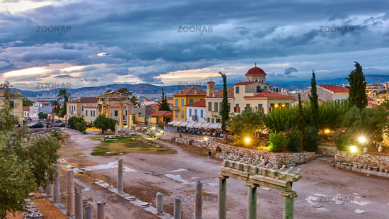 Roman Agora in the old town of Athens