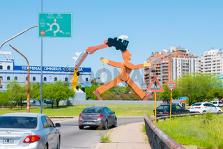 Argentina Cordoba sculpture called a citizen man by Antonio Segui