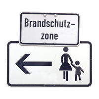 German sign isolated over white. Brandschutz-zone (Fire protection zone)