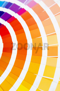 Fragment of color wheel with red and yellow tones