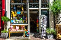 Kleiner Laden in Amsterdam im Sommer