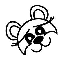 Lustiger Bär - neugierig