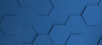Abstract modern classic blue honeycomb background