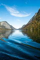 Bootsfahrt auf dem Königssee, Nationalpark Berchtesgaden, Deutschland