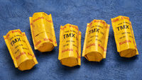 Rolls of 120 black and white TMX film by Kodak