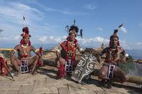 NAGALAND, INDIA, December 2016, Konyak tribal man, Hornbill festival