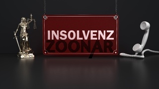 Lady Justice Statue Support Insolvenz