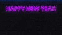 Neon Sign Happy New Year
