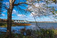 Eine Brücke zwischen Seeland und Møn in Dänemark