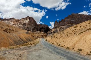 Manali-Leh road to Ladakh in Indian Himalayas. Ladakh