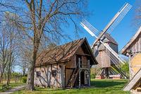 Bockwindmühle in Rethem (Aller), Landkreis Heidekreis, Niedersachsen, Deutschland