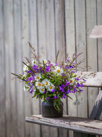 Bouqet with wild flowers. Cottagecore concept