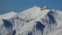 Peak of Mount Vanil Noir in winter.