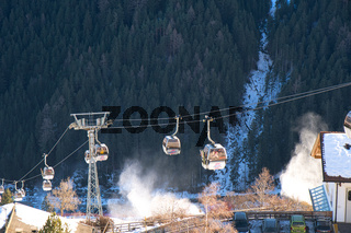 Skilift am Kronplatz, Dolomiten