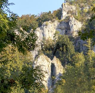 Felsgebilde Küssende Sau, Schwäbische Alb, Blaubeuren