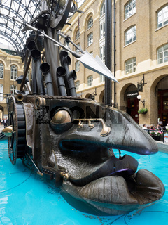The Navigators by Sculptor David Kemp at Hays Galleria in London