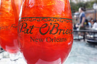 NEW ORLEANS,LA/USA -03-19-2019: The famous Hurricane cocktail at Pat O'Briens Bar in New Orleans French Quarter