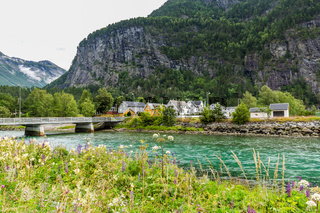 Townscape Sylte or Valldal Norway