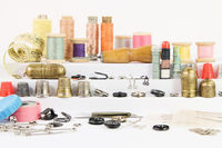 Vintage accessories and tools for sewing