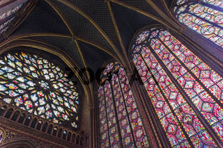 The interior of Sainte-Chapelle.