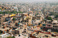 Jaipur city panorama view in Jaipur, India