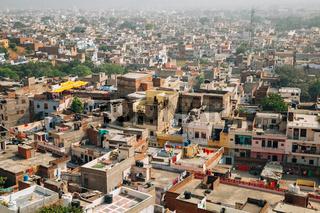 Jaipur city panorama view in Jaipur, India