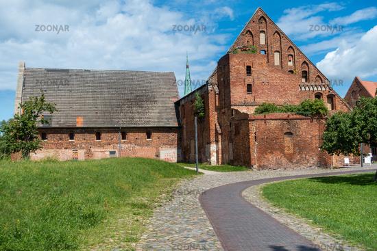 GemHistorische Gebäude auf dem Gelaende des Bad Doberaner Münsters, Mecklenburg-Vorpommern