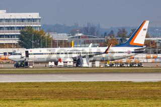 Flugzeug vom König von Thailand Rama X Maha Vajiralongkorn Royal Thai Air Force Boeing 737-800 BBJ2 Flughafen München
