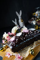 Delicious Easter homemade chocolate cake