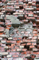 Bright red bricks wall flat background texture pattern