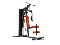 Black sport exerciser with an orange soft handrail for the legs and hands for sports training isolated 3d render on white background no shadow