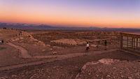 Sunset at Valle de la luna near San Pedro de Atacama in Chile.