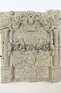 Historische Steinplatte im Dom zu St.Blasien Schwarzwald