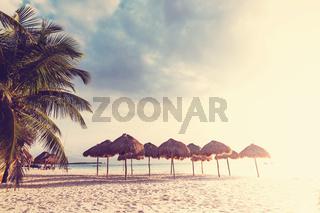 Tropical beach in Mexico