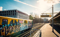 Graffiti an der Bahn