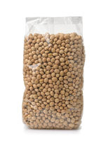 Plastic bag of soybeans