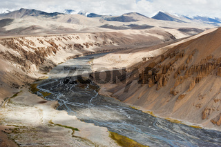 Himalaya high mountains landscape. India, Ladakh