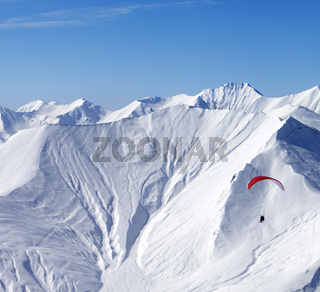 Sky gliding in high mountains