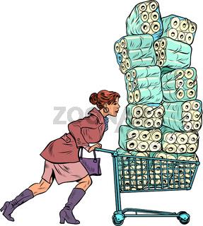 Woman bought toilet paper, panic coronavirus