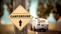 Street Sign to Campground